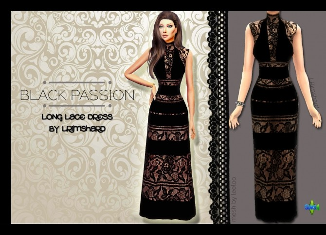 BLACK PASSION LACE DRESS RECOLOR AT RIMSHARD SHOP