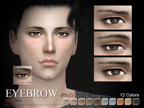 S-Club LL thesims4 Eyebrows 35M