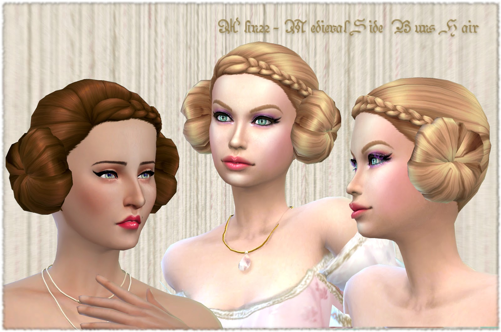 Medieval Side Buns Hair for Females by MythicalDreamsSims4