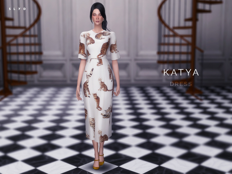 Bengal Cat Print Dress - KATYA