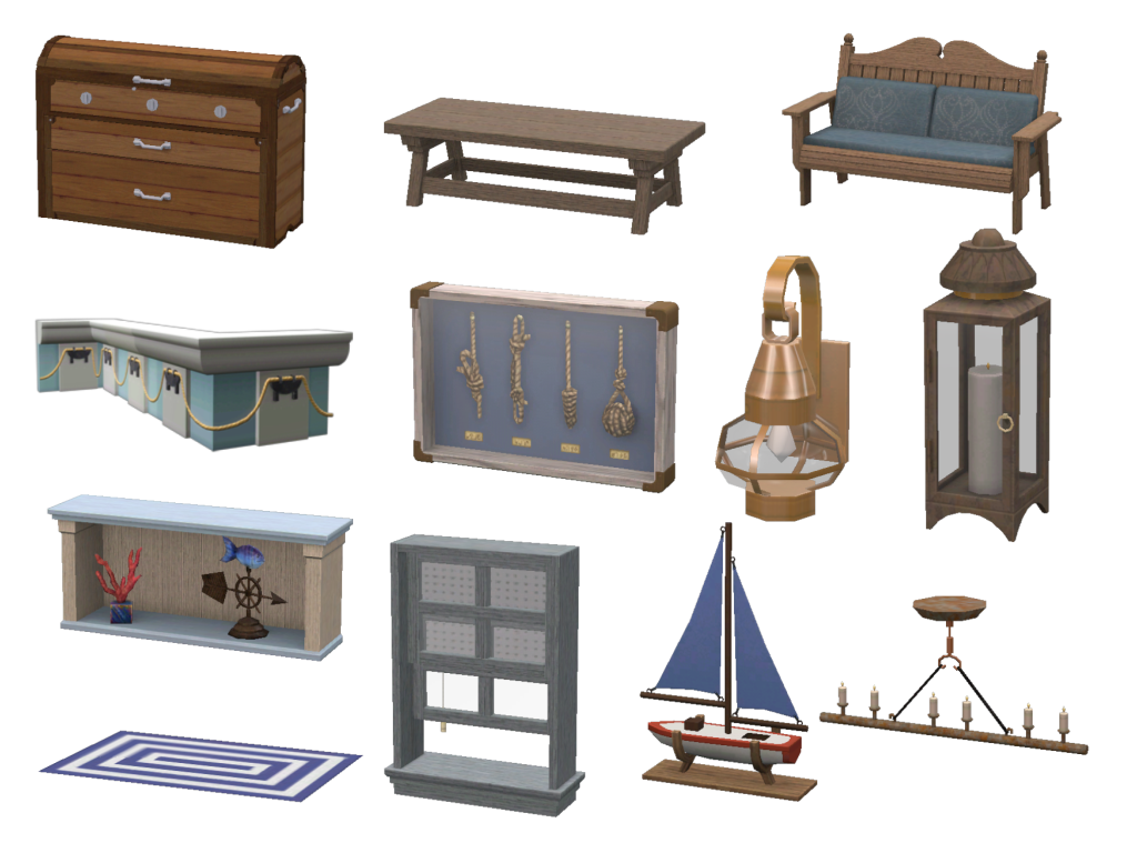TS3 Nautical Living Set Conversion by Daer0n