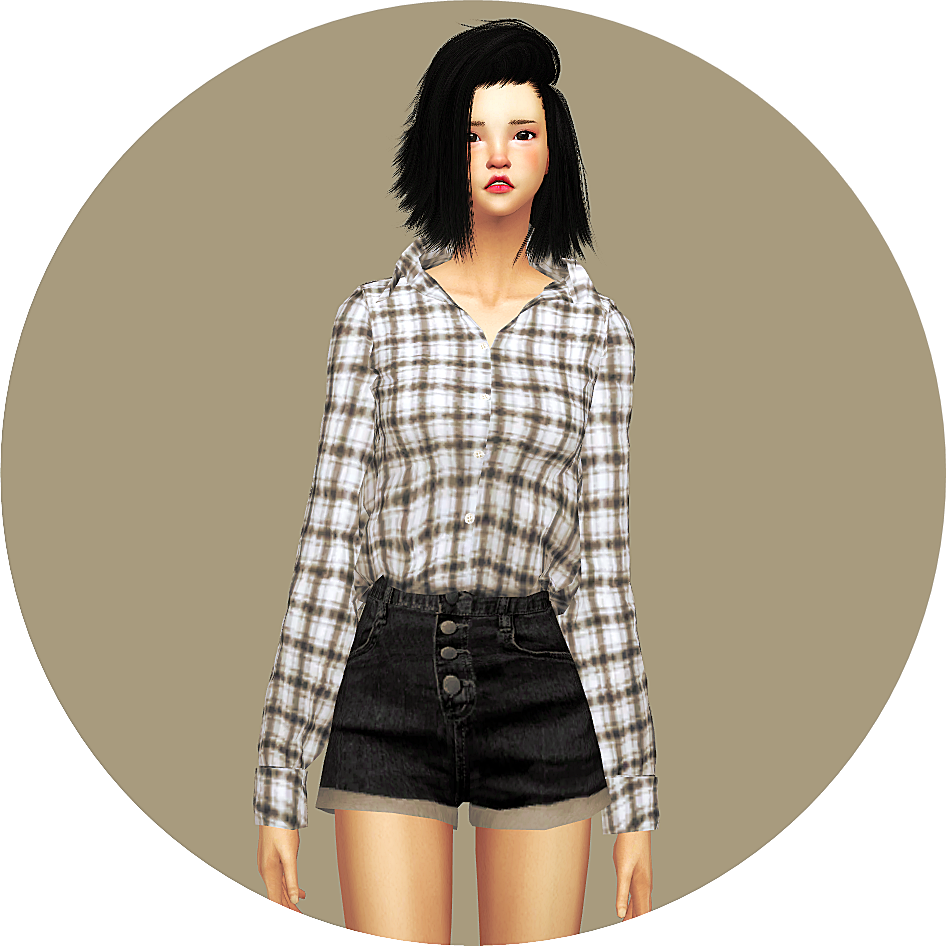 Top Tucked In Button Up Shirt Open Neck by Marigold