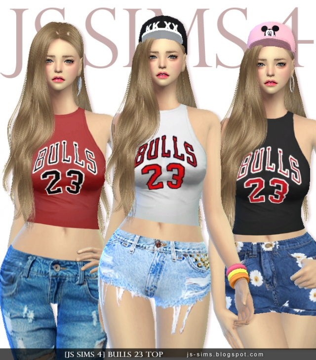 BULLS 23 Top by JS SIMS 4