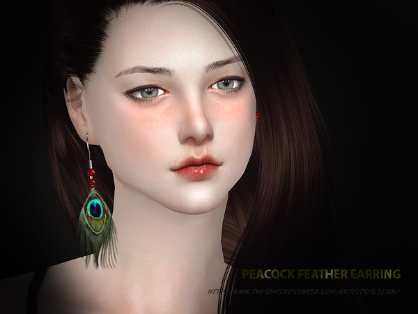 S-Club WM ts4 peacock earring