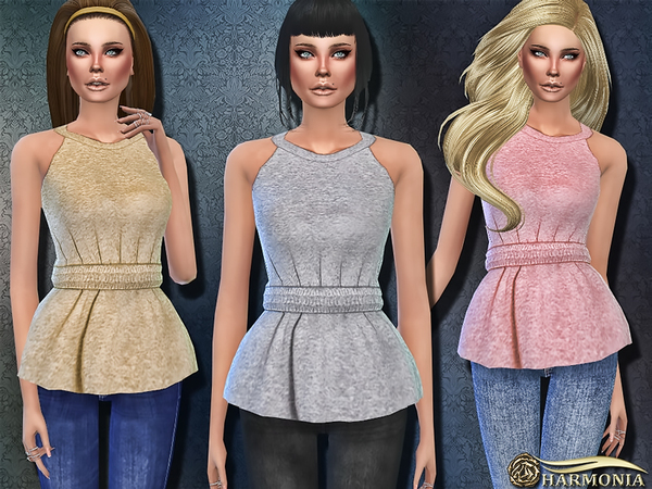 Peplum Muscle Top by Harmonia