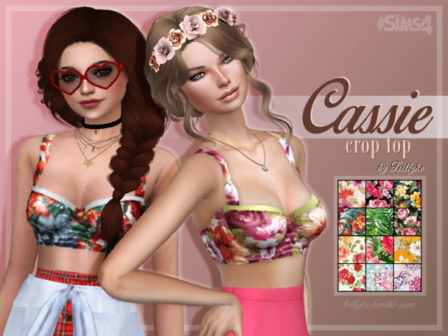 Cassie Crop Top - inspired by Dolce & Gabbana by Trillyke