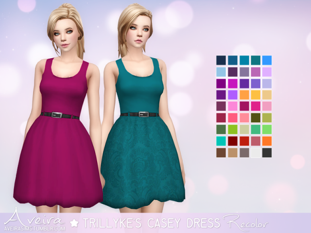 Trillykes Casey Dress - Recolor by Aveira