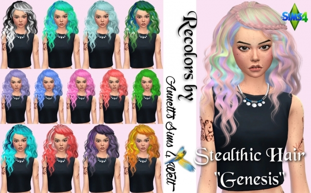 "Stealthic Hair ""Genesis"" Recolors by Annett85"