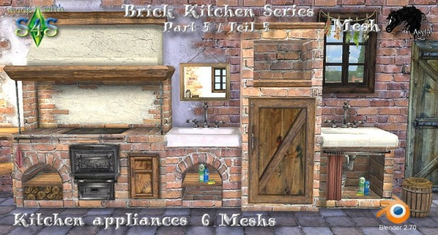 Brick Kitchen Series_Kitchen appliances Part 5 by Asyli