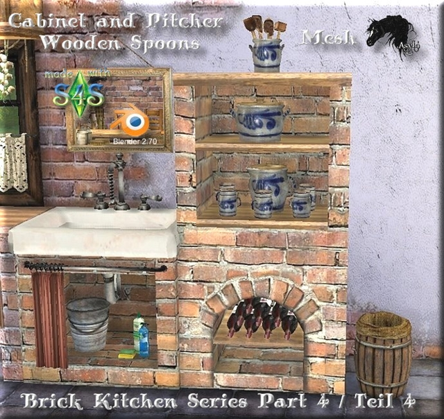 Brick Kitchen Series / Cabinet and Pitcher Part 4 by Asyli