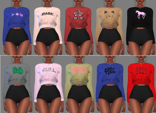 Sweatshirt retexture by Hallow Sims