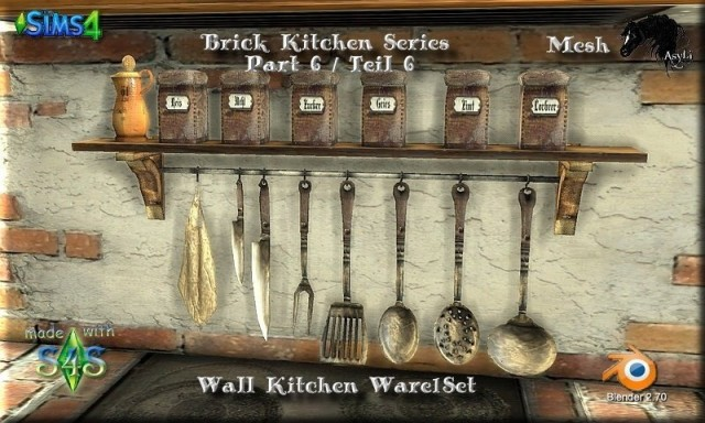 Brick Kitchen Series_Wall Ware 1 Part 6 by Asyli