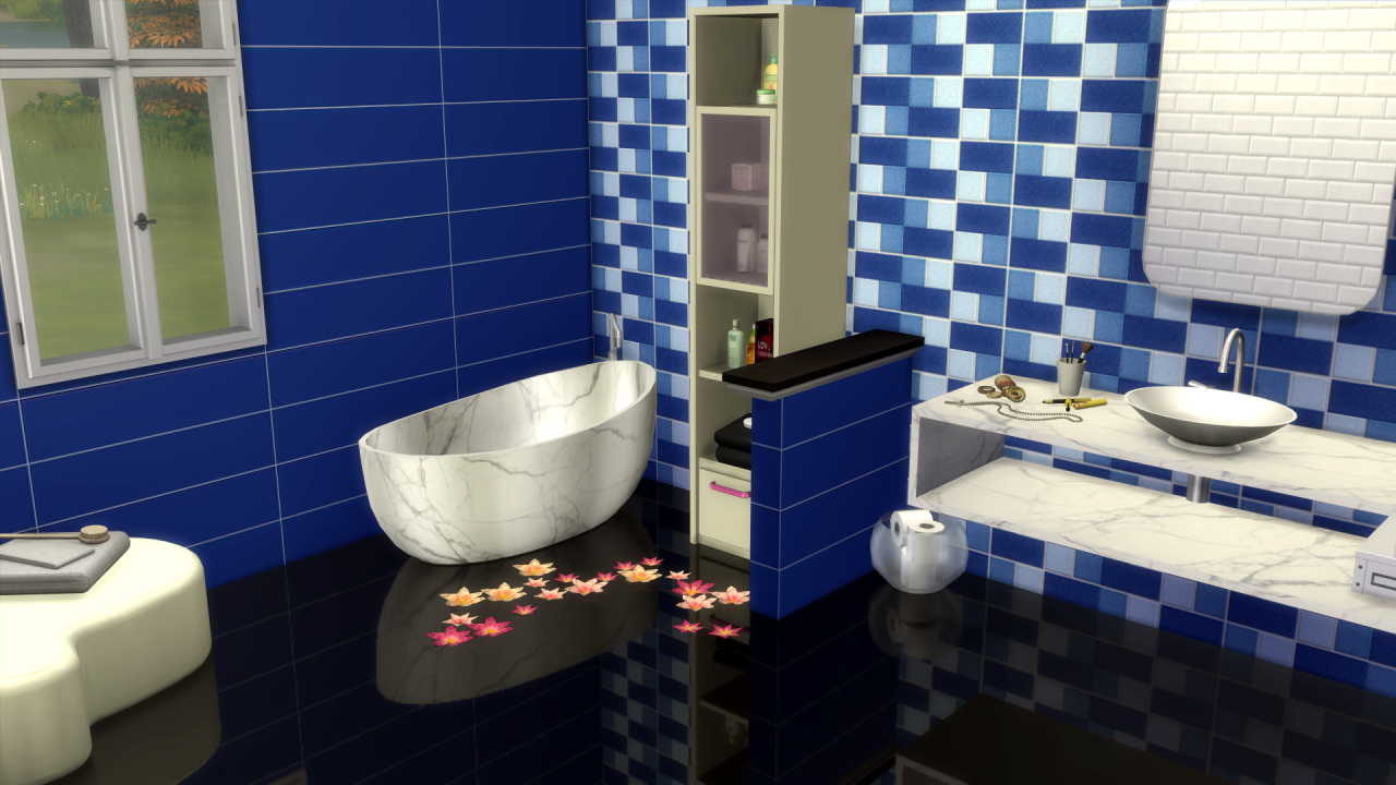 Bathroom Tile Wallpaper by Tatschu