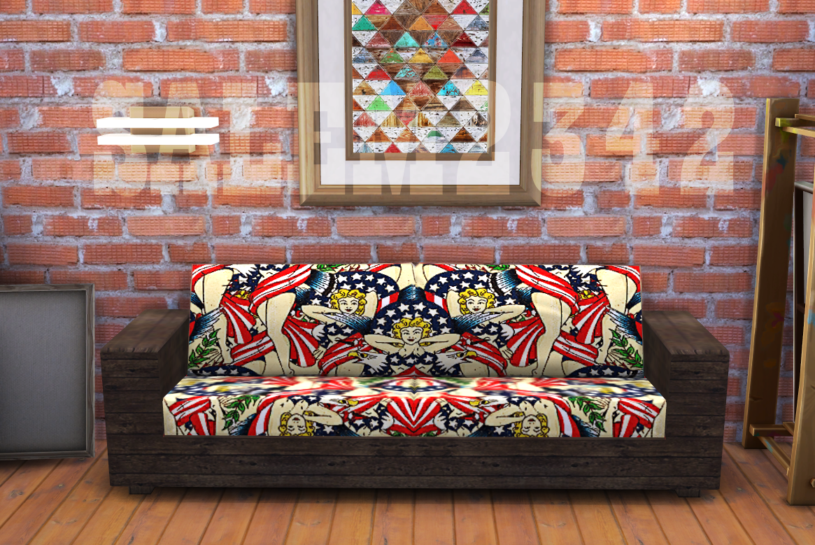 Wooden sofa (TS4) by salem2342