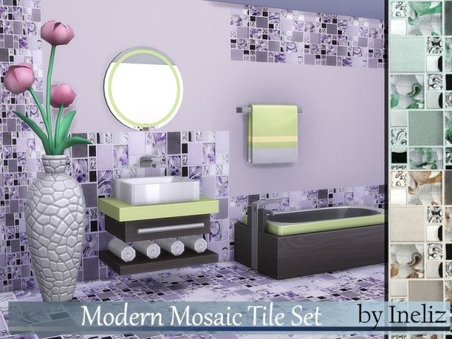 Modern Mosaic Tile Set by Ineliz