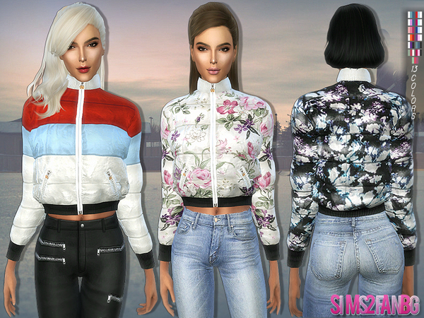 167 - Colorful Padded Jacket by sims2fanbg