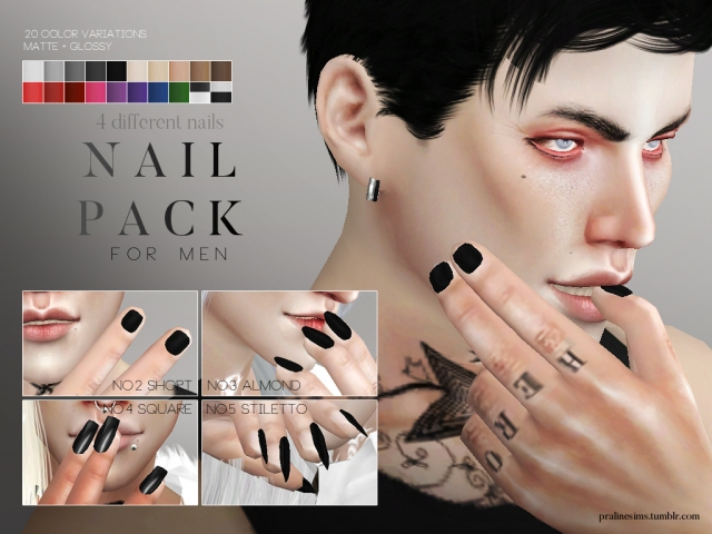 Nail Pack For Men by pralinesims