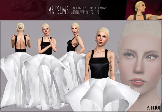 L A D Y  G A G A - Lincoln Center Performance_Atelier Versace Couture by artsims