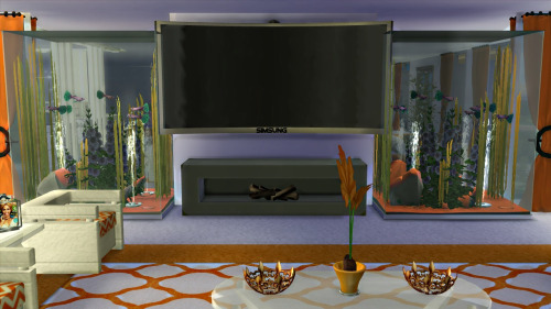 LUXURIOUSLY TALL AQUARIUM (functional) by newluxurioussims4
