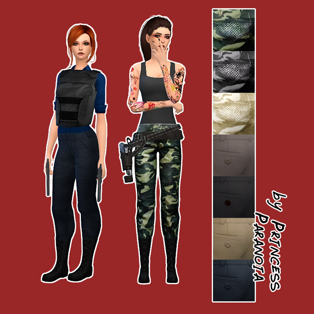 Camo pants by Princess Paranoia