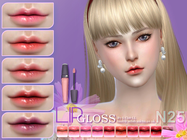 S-Club LL thesims4 Lipstick 25