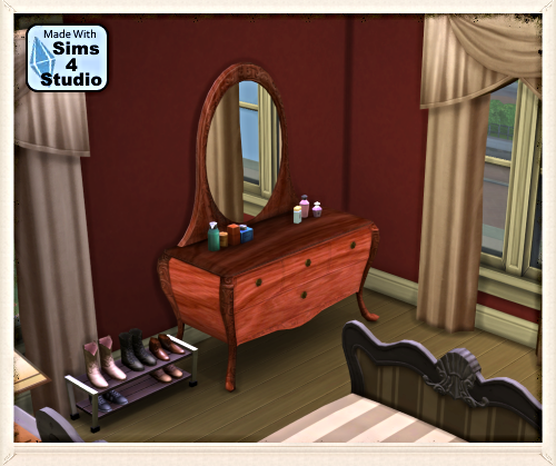 The Architrave sims 3 dresser conversion by Xtrasims