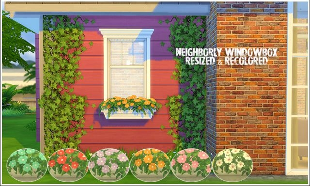 Window Box Resized and Recolors by LinaCherie