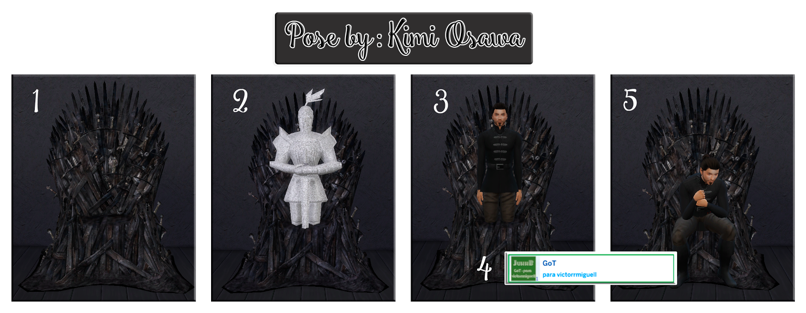 Pose Iron Throne by Kimi Osawa