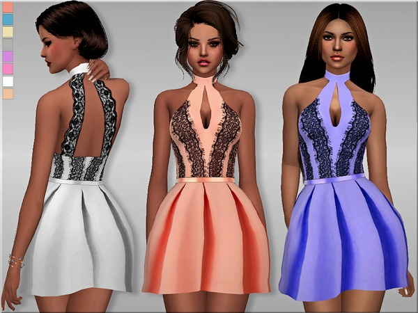 S4 Elegant Halter Dress by Margeh-75