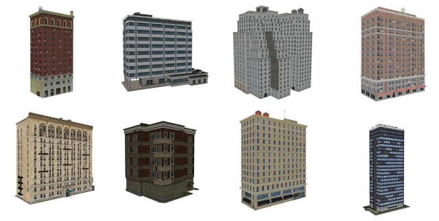Декоративные и дефолтные здания TS3 Background Buildings Replacement and Decorative Buildings by Boybatterfly