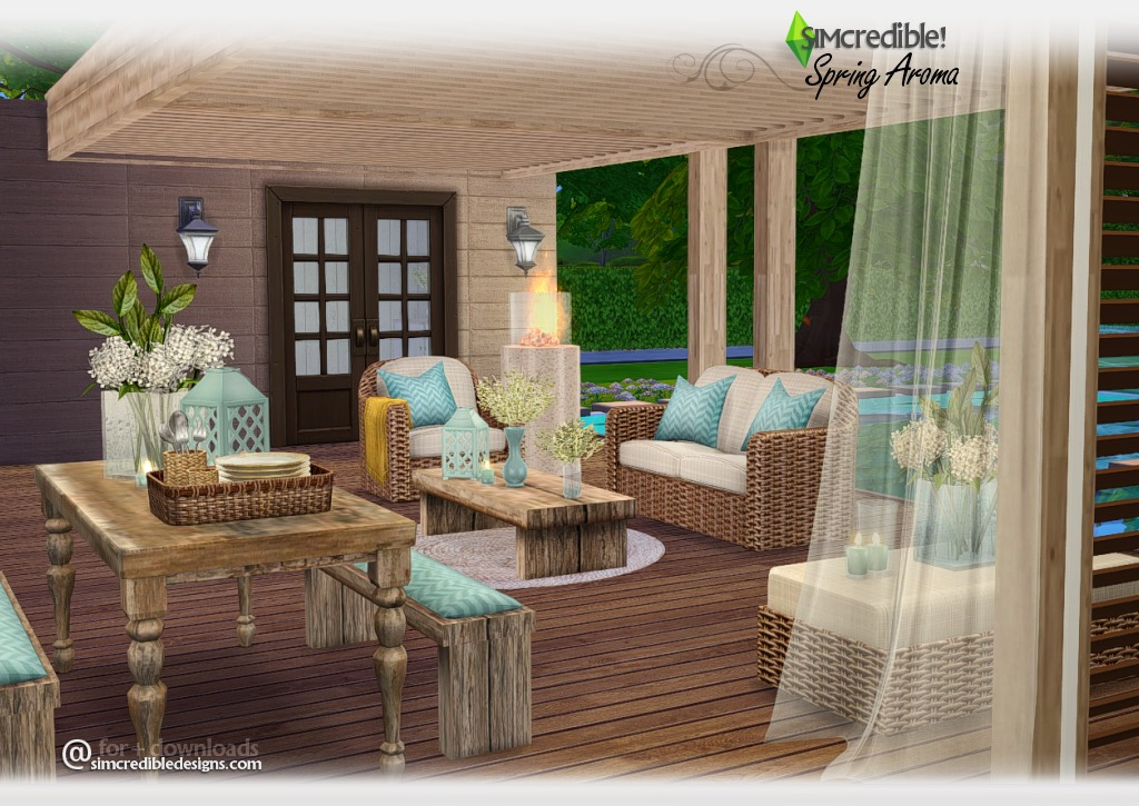 Spring Aroma Outdoor Set by Simcredible Designs