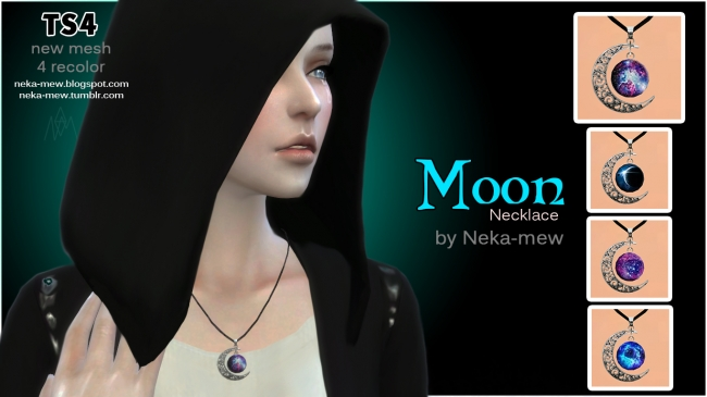 "Set of accessories ""Moon & Sun"" by Neka-mew"