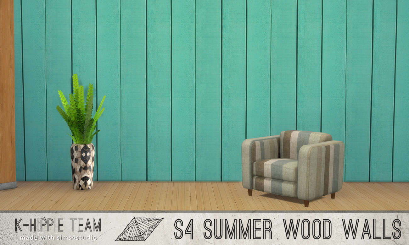 7 Wood Walls - Vertical Summer Colors - volume 2  by K-Hippie