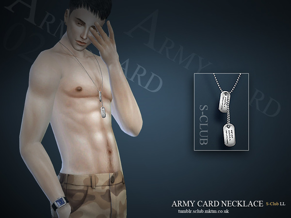 S-Club LL ts4 necklace M02