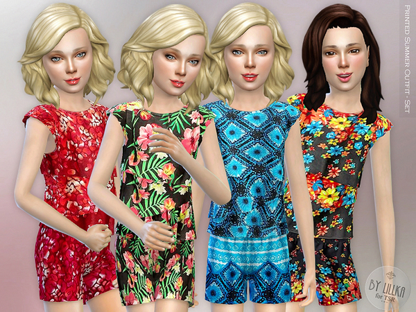 Printed Summer Outfit - Set by lillka