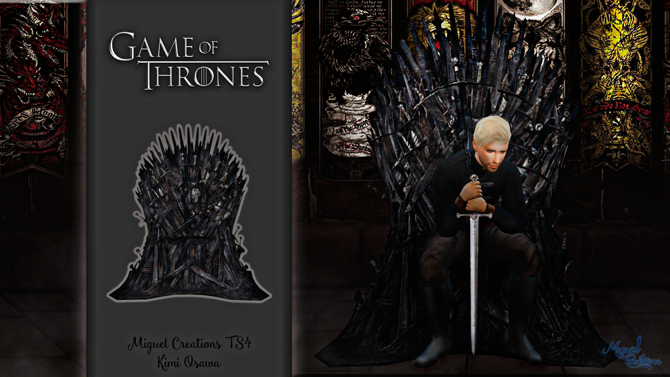 Game of Thrones Iron Throne by Miguel