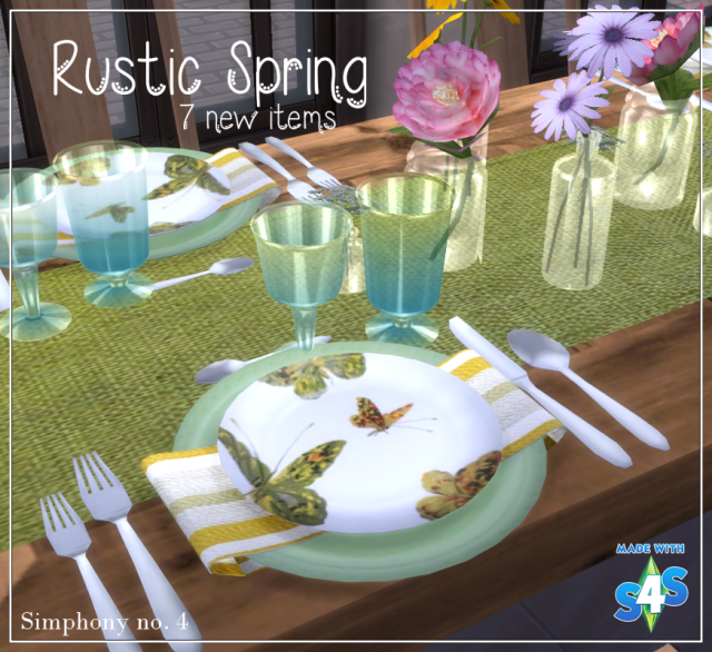 Обеденный декор Rustic Spring Dining Decor Set by SimphonyNumber4