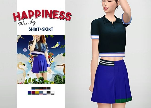 Happiness Wendy Shirt + Skirt by Waekey