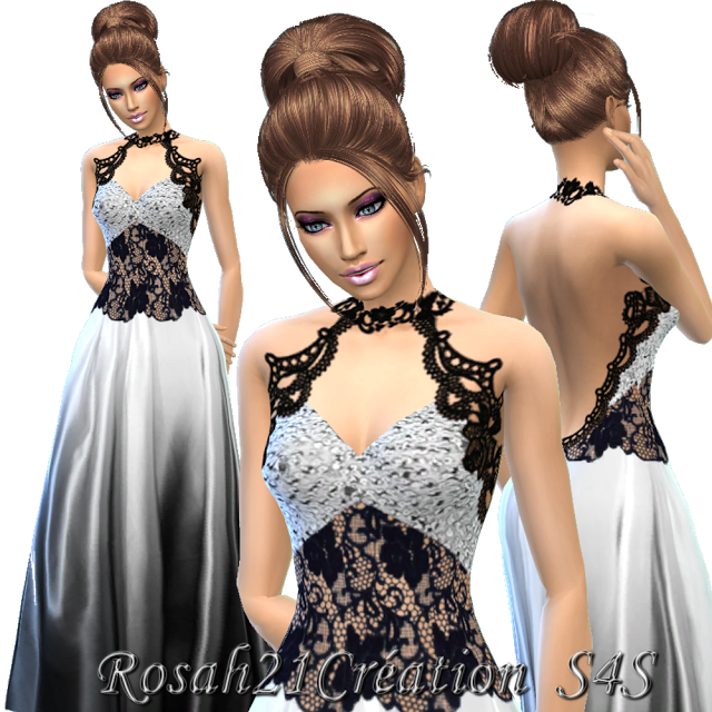 Clothing Dress: Soyeux satin  by simsdentelle