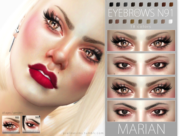 Marian Eyebrows N91 by Pralinesims