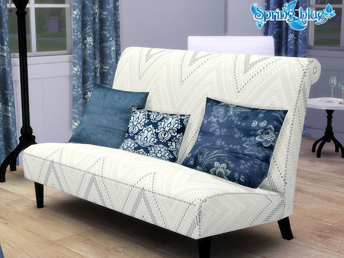 """Azure Living"" furniture set by Severinka"