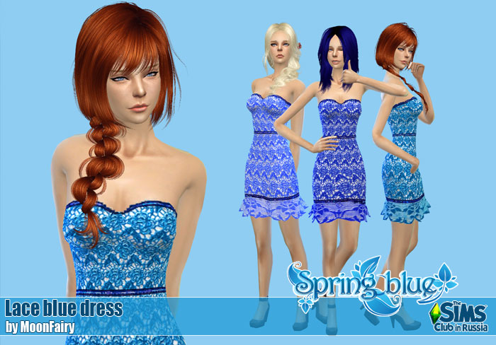 Lace blue dress by MoonFairy