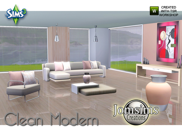 Clean Modern Living Room by jomsims