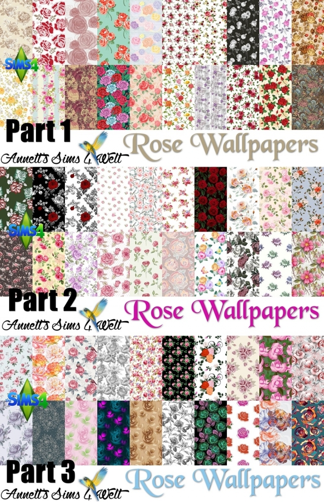 Mega Pack - 60 Rose Wallpapers by Annett85
