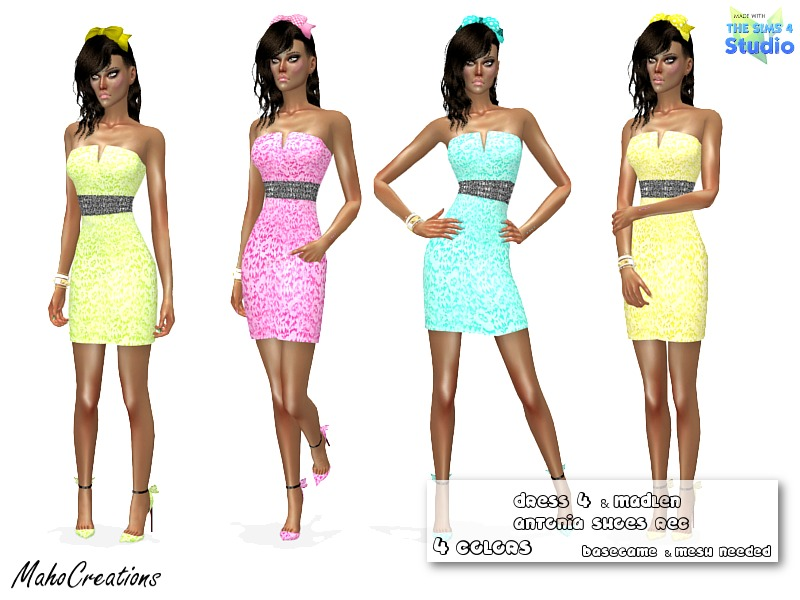 Dress with Madlen Antonia Shoes Recolors   BY MahoCreations