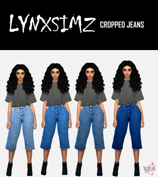 CROPPED JEANS by Lynx Simz