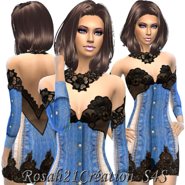 Clothing Dress: Jean's et  by Sims Dentelle