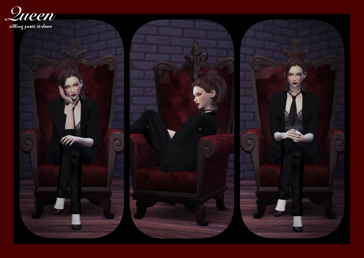 Queen Sitting Poses Set  Re-edited by Flower Chamber