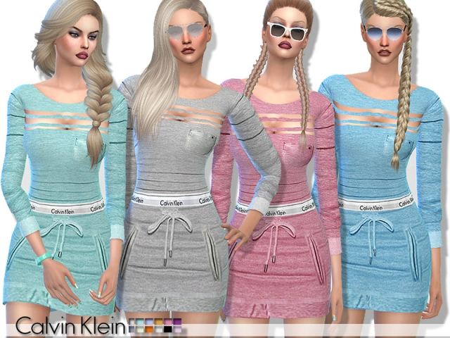 Calvin Klein Sporty Dress by Pinkzombiecupcakes
