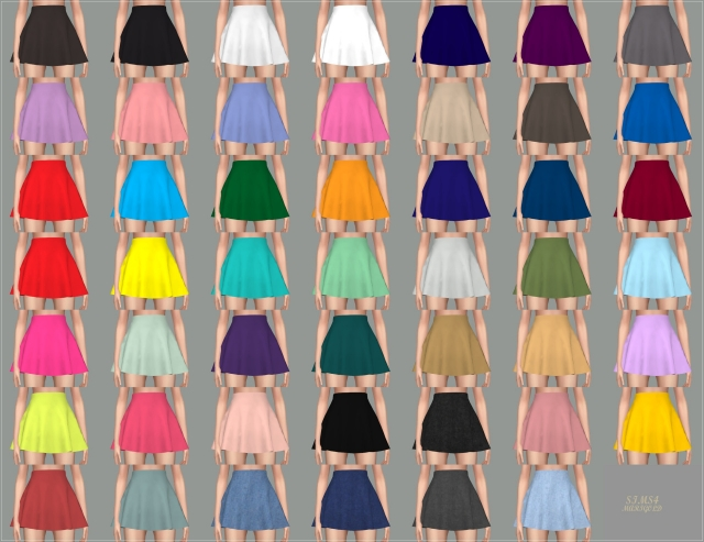 Skater Mini Skirt v1 (single colors) by marigold